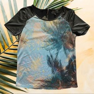 Romeo & Juliet Couture Mesh Tropical Faux leather
